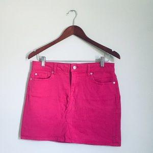 Gap pink mini  jean skirt size 6